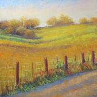 Be transported to this glowing field in Kentucky through this original pastel masterpiece!