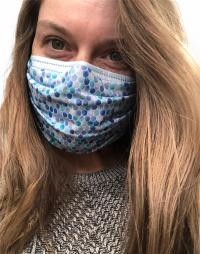 handcrafted in Kentucky - reversable & washable mask