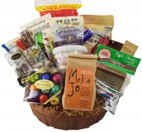 A huge basket packed with lots of Kentucky goodies!