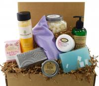 Ultimate Pampered Lady gift box with Moss Hill products, made in KY USA