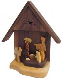 Hand crafted Nativity made in KY
