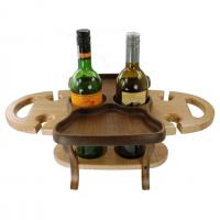 wine bottle and glasses stand- holds two bottles, four glasses made in Berea, KY USA