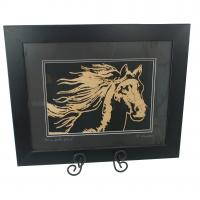 Horse in the Wind - wood cutting made in Lexington, KY USA