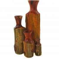 Reclaimed cedar fencepost vases made in Berea, KY USA
