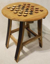 bourbon stave checker table