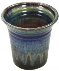 blue glazed utensil jar