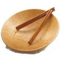 KY spring tongs in maple bowl made by KY Spring in Kentucky