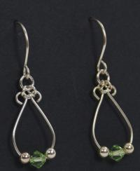 birthstone earrings handmade in KY, USA