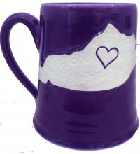 eggplant Kentucky State mug made in Winchester, KY