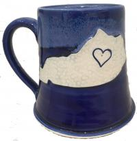 Blue Kentucky mug made in Winchester, KY