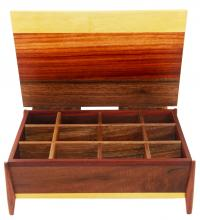 multi-compartment jewelry box made in Elkhorn, KY