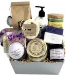A gift caddy with Kentucky's best pampering products